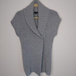 Theory Cashmere Blend Chunky Cap Sleeve Cardigan
